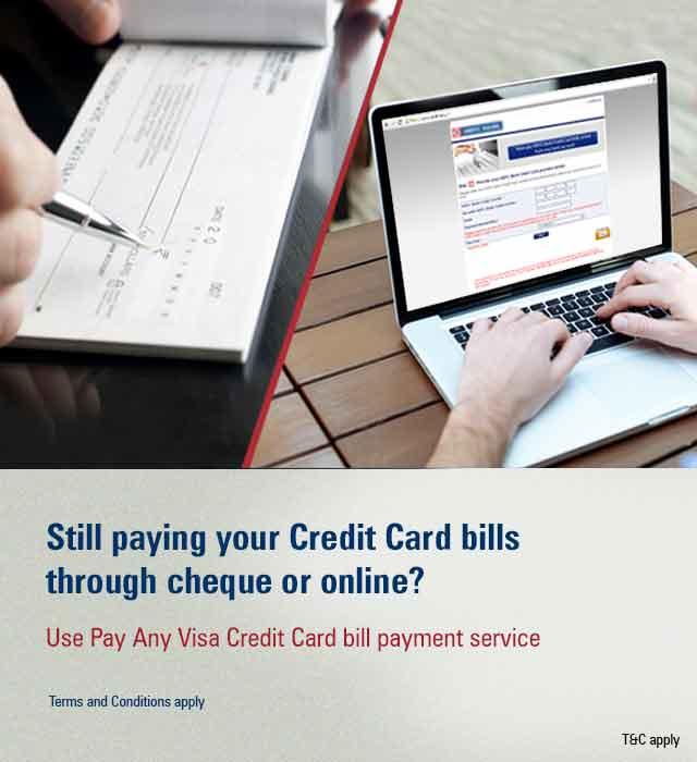 Pay Any Visa Credit Card Bill Payment Offer