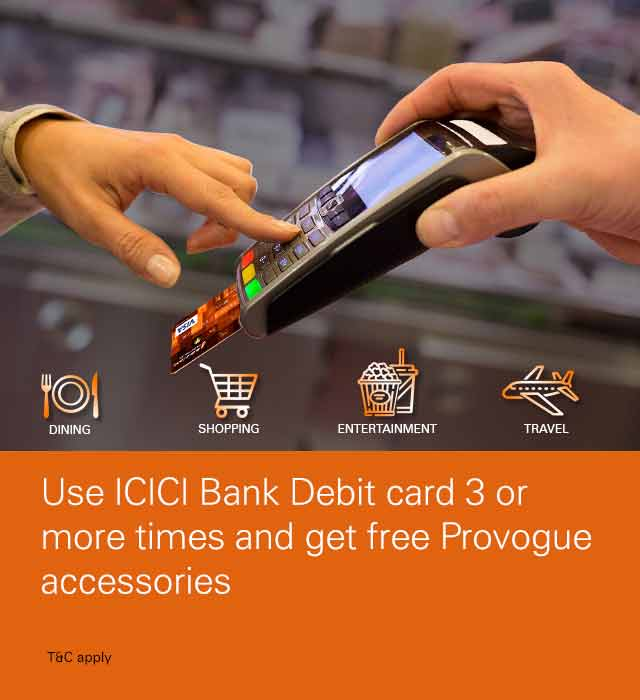 Debit Card Offer – Get free Provogue accessory
