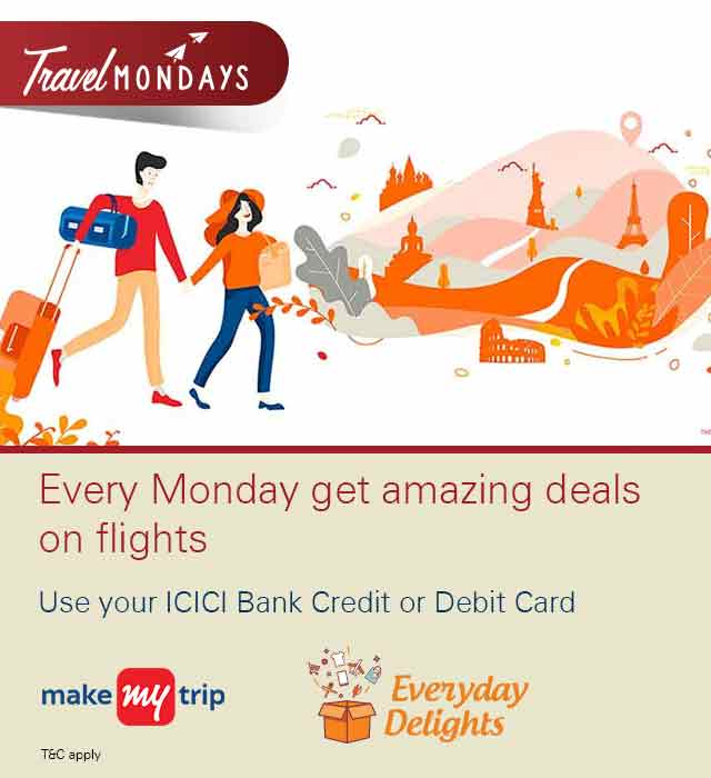 Everyday Delights Travel Mondays Offer