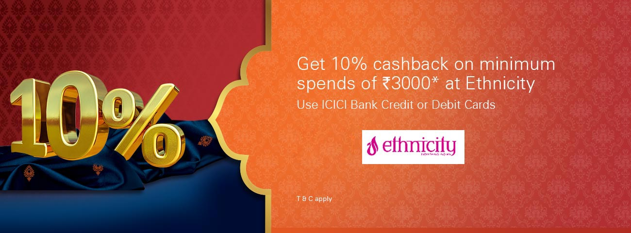 Get 10% Cashback at Ethnicity