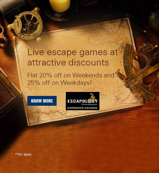 Escapology offer - Get Flat Max. 25% off