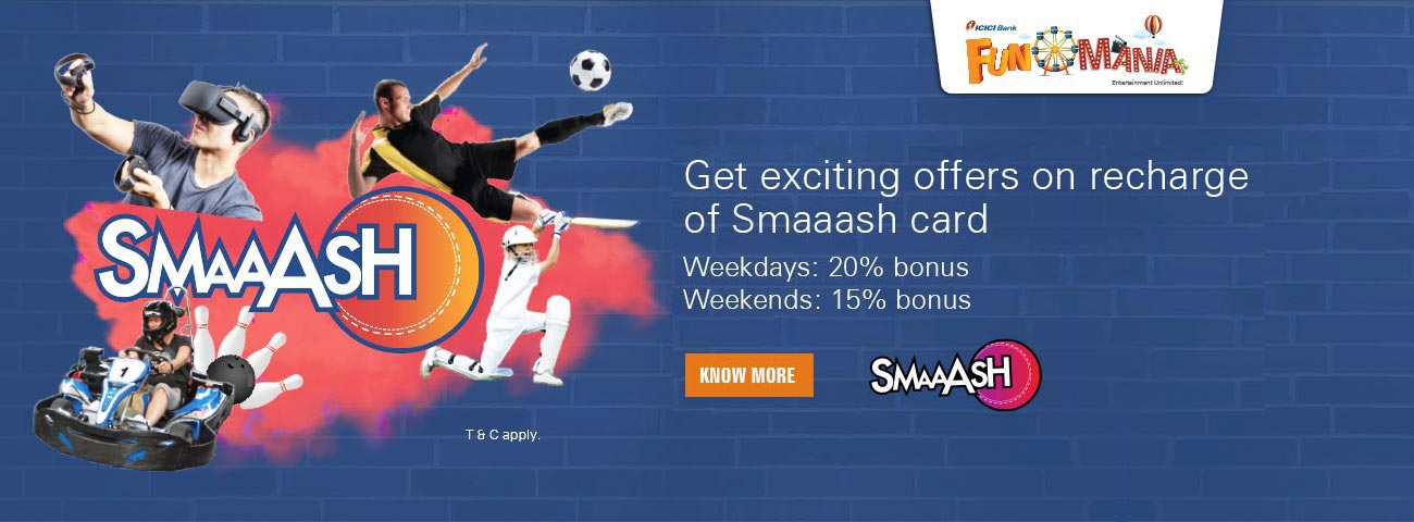 Smaaash Offer - Get 15% off on F&B