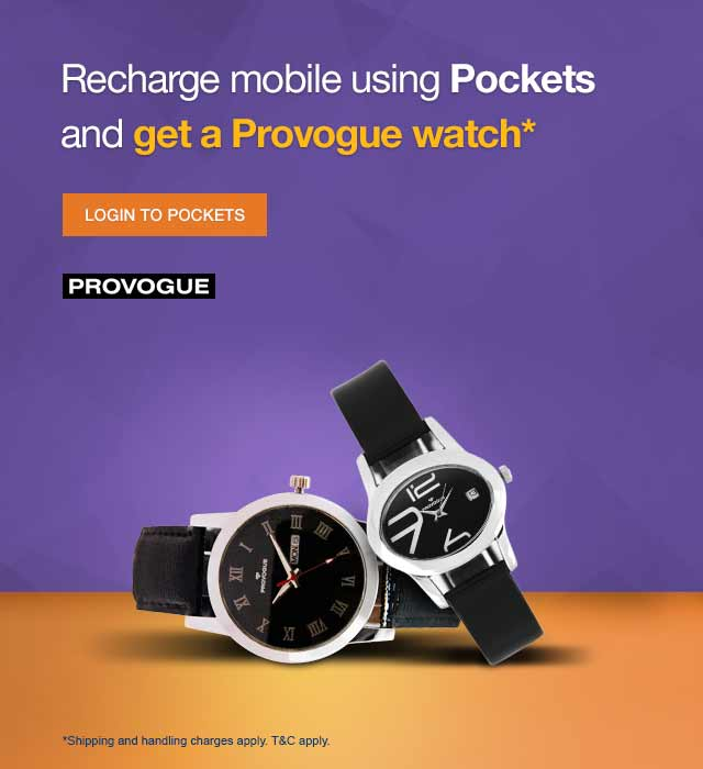 Provogue Watch on Pockets Offer