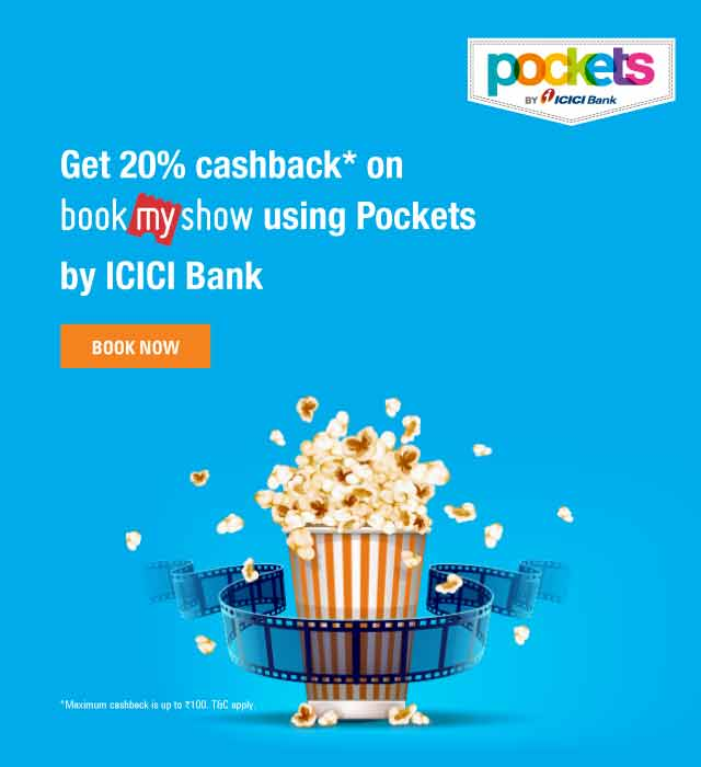 20% Cashback at BookMyShow offer