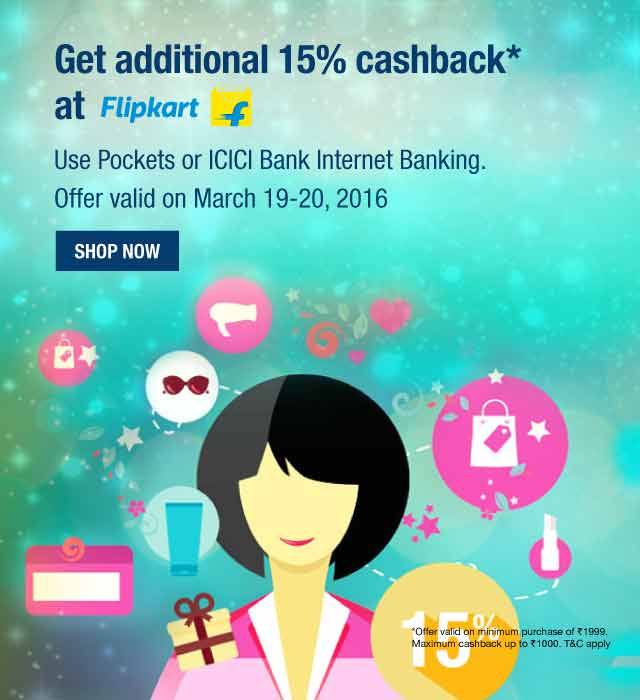 Additional 15% Cashback on Flipkart