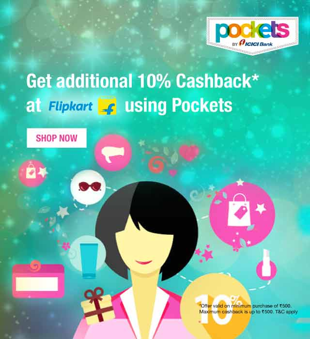 Additional 10% Cashback on Flipkart