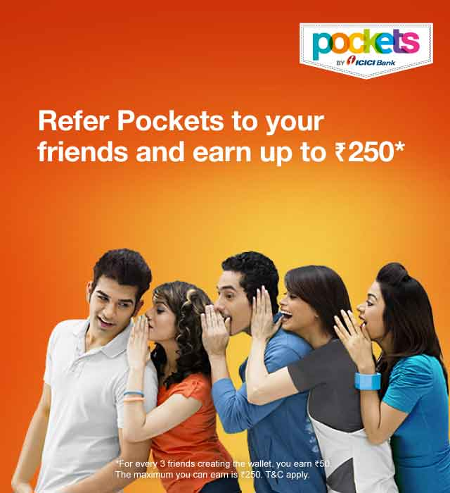 Refer and earn with pockets