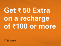 Rs. 50 extra recharge free