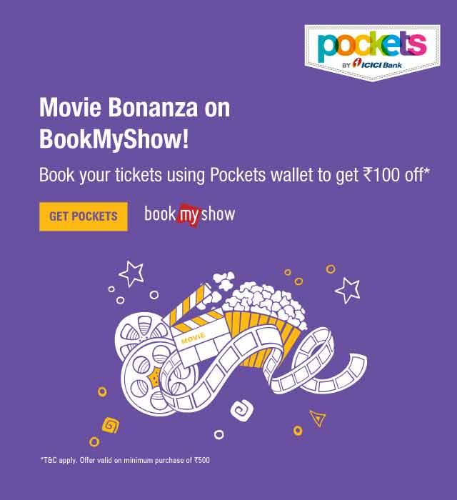 BookMyShow (BMS) Offer on Pockets