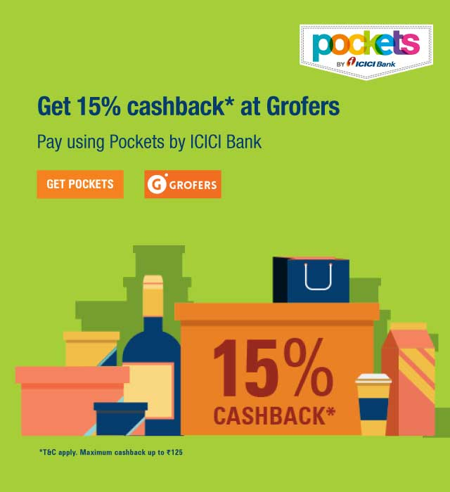 Get flat 15% off at Grofers