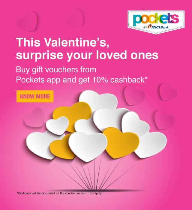 Pockets Valentine Day Offer