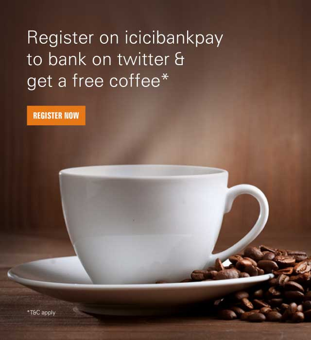 Twitter Banking Offer - Get Free Coffee at Popular Coffee chains