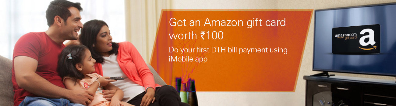 Offer on DTH Bill payment through iMobile app