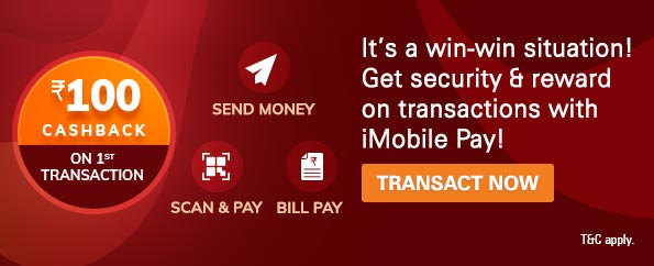 Get Rs 100 cashback using ICICI Bank iMobile Pay