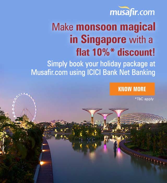 icici bank singapore holiday package offer