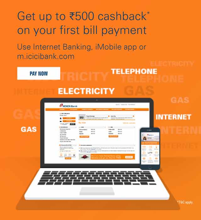 Bill Pay Cashback Offer