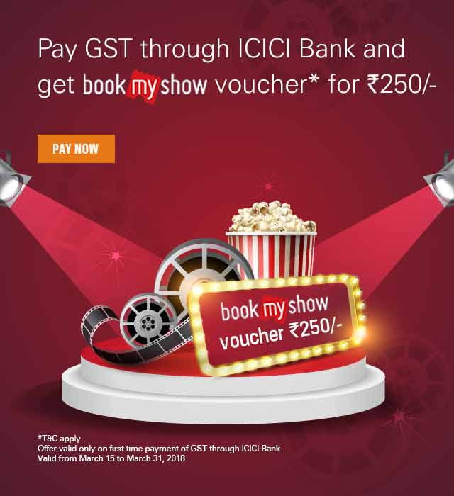 bookmyshow Pay GST Offer