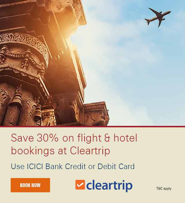 Cleartrip Offer - ICICI Bank