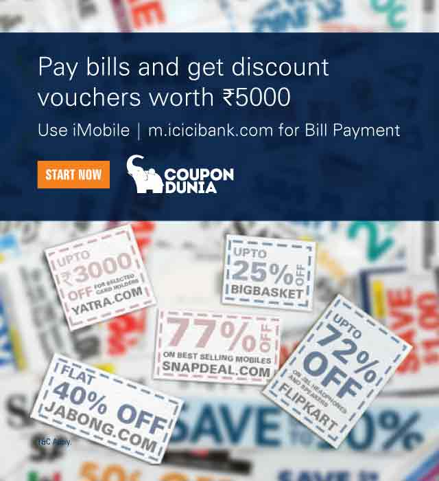 Icici bank ebay discount coupons