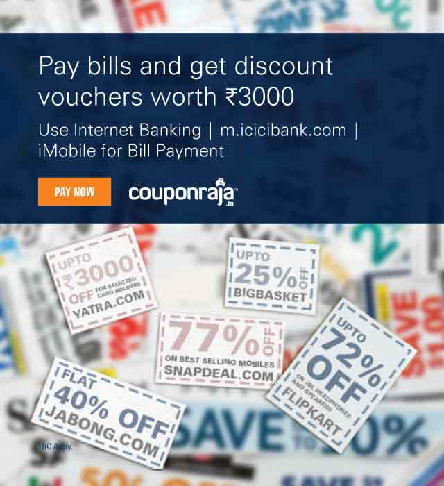 Bill Payment Offers - Get Rs 3000 Voucher from CouponRaja