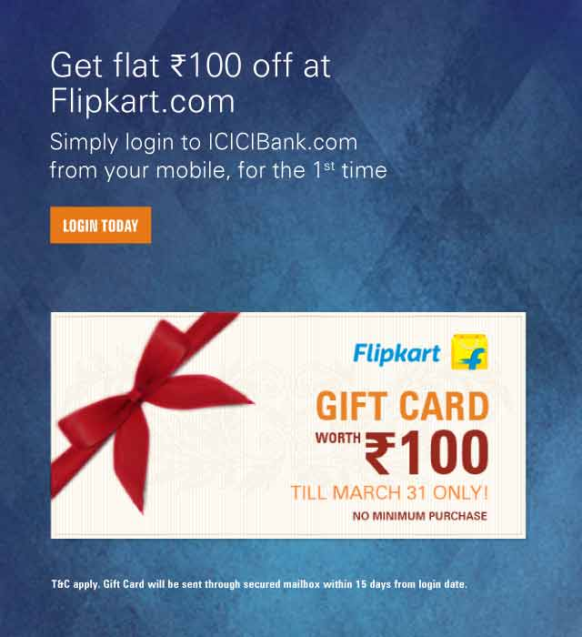 Flipkart Offer on Mobile Banking