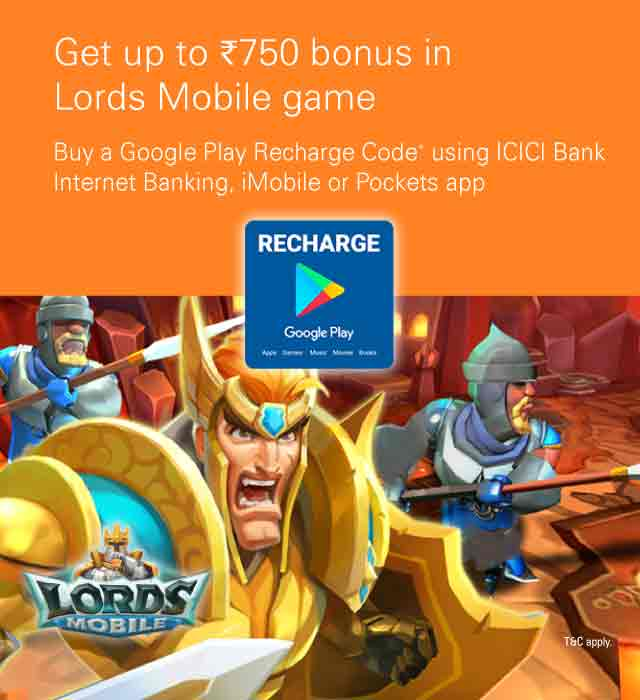 Google Play offer - ICICI Bank