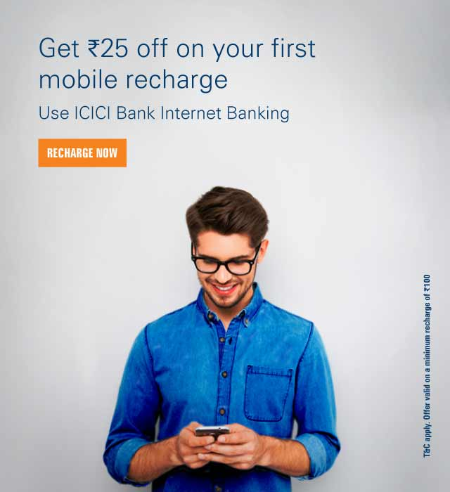 ICICI Bank | Online Banking Mobile Recharge Offers