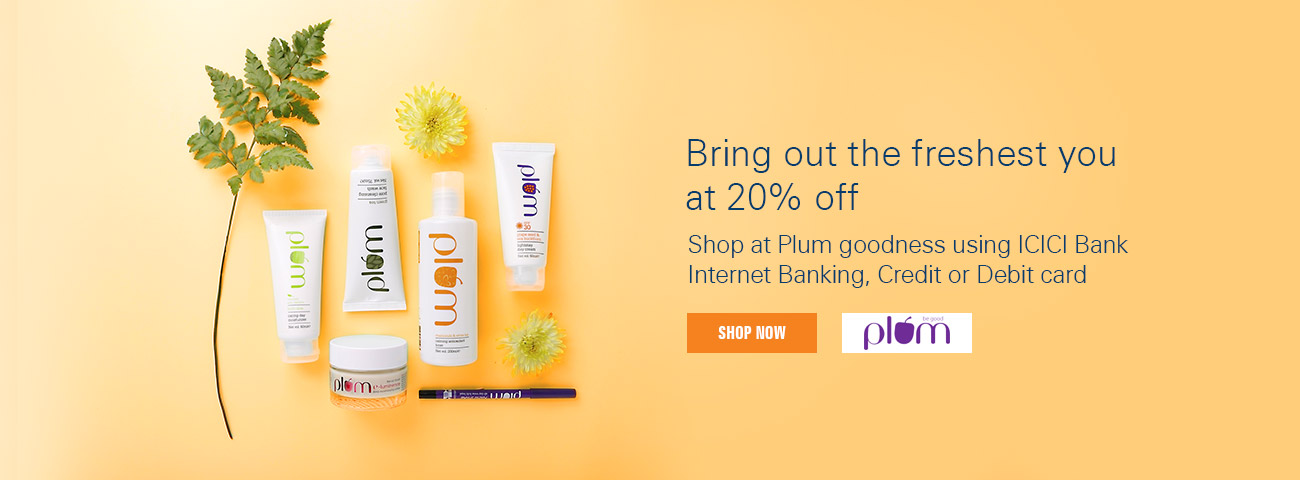 Get flat 20% discount at Plum Goodness