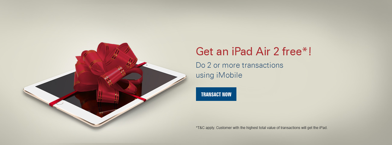 Mobile Banking iPad Air Offer
