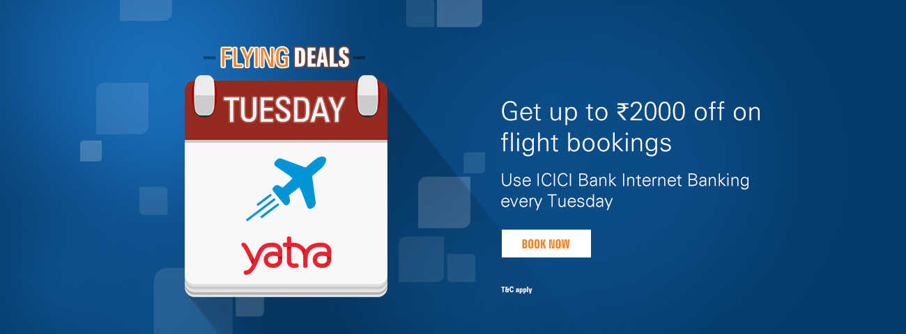 yatra coupons for domestic flights icici