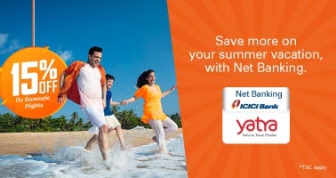 yatra.com - Get Flat 10% Discount on domestic flights booking