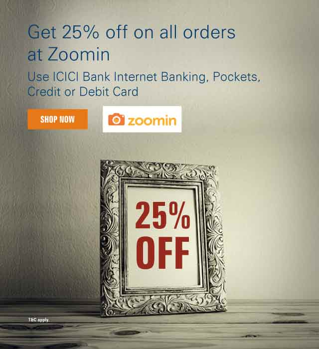 Get 20% discount* at Zoomin