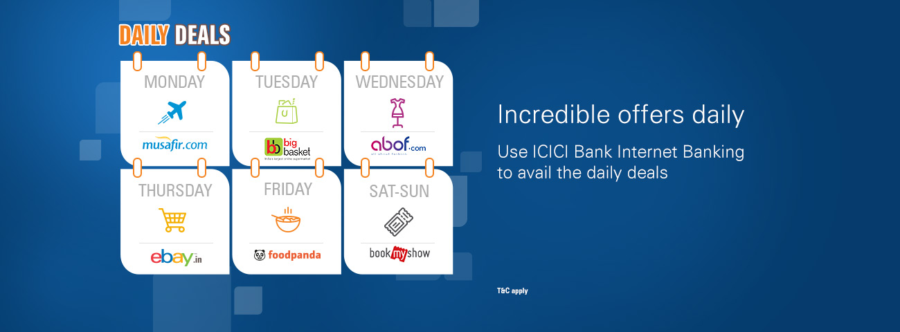 Icici deals and offers