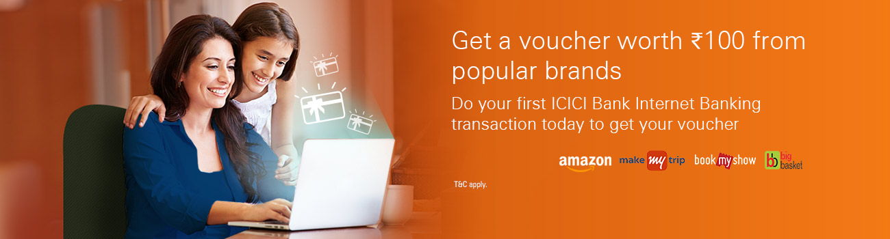 Deals offers discount coupons vouchers icici internet banking know more fandeluxe Choice Image