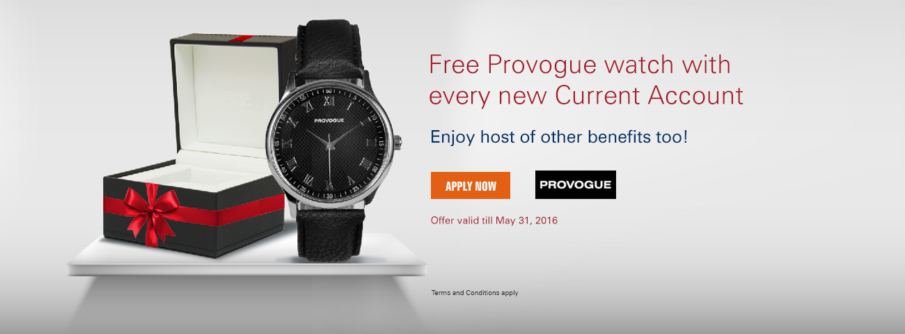 Provogue watch offer on Current Account