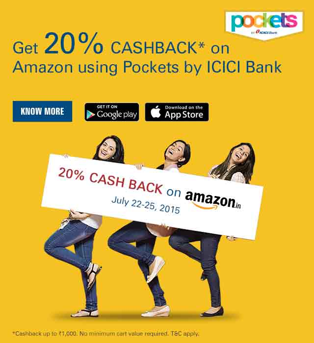 20% CASHBACK on Amazon