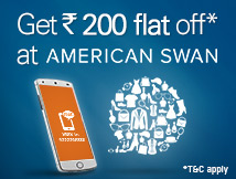 Rs.200 FLAT off at AmericanSwan.com!