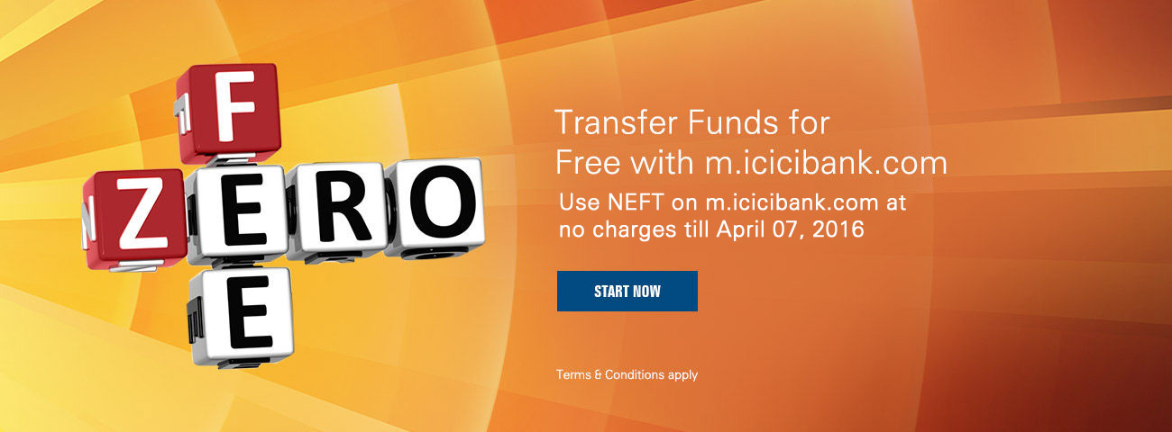 No Fee on NEFT Transaction