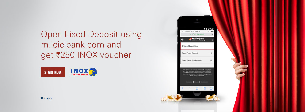 Exclusive INOX offer for m.icicibank.com wealth customers
