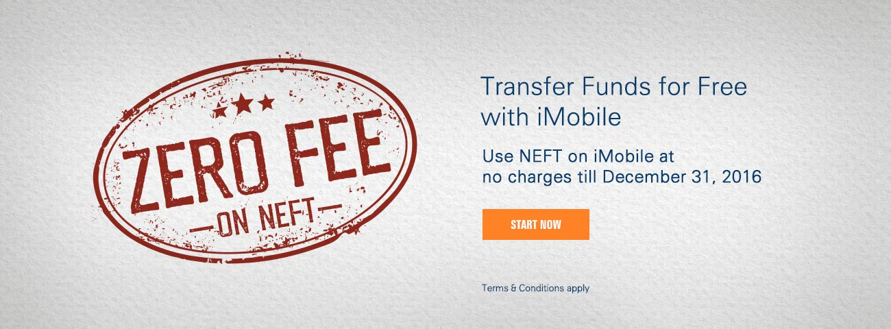 NEFT no fee offer