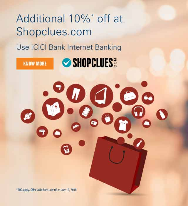 Shopclues Net Banking offer