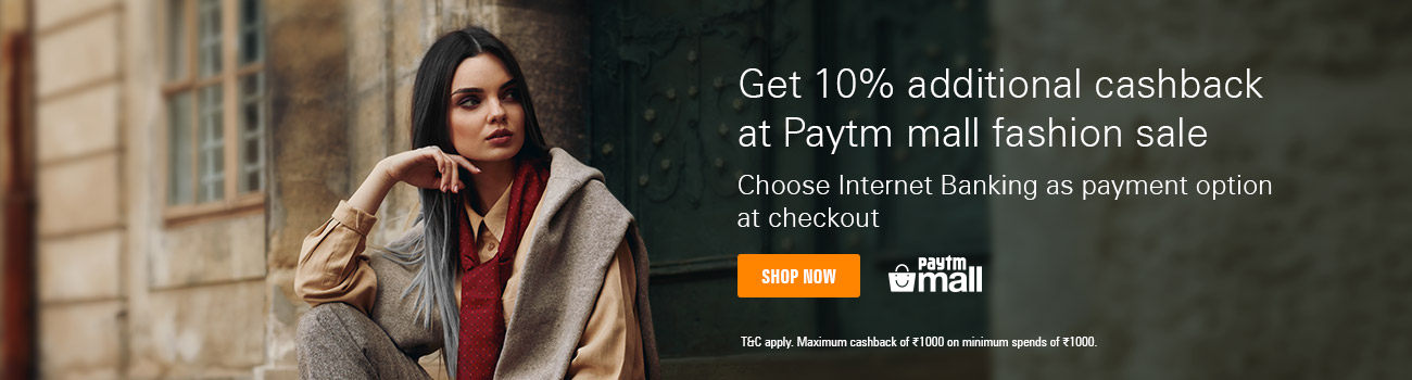 Get 10% cashback on Paytm Mall