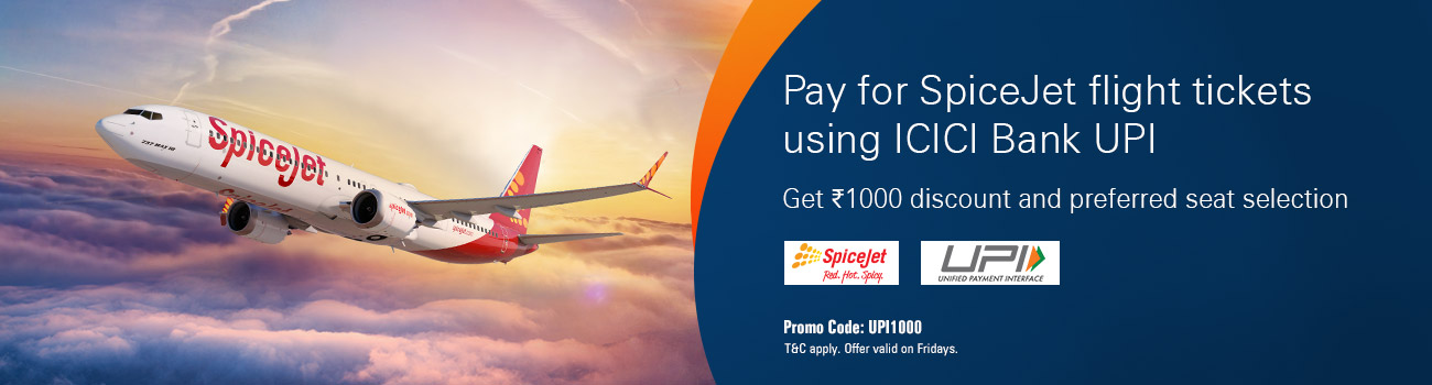 SpiceJet offer - ICICI Bank offer