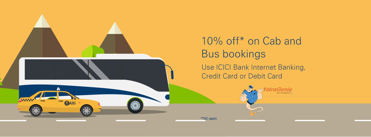 Yatra Genie Cab and Bus Offer