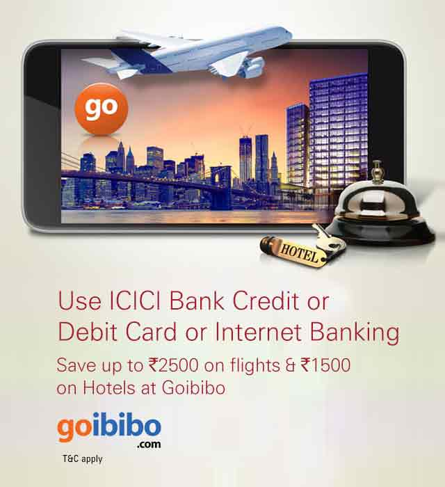 Goibibo Flight Hotels Discount Offer