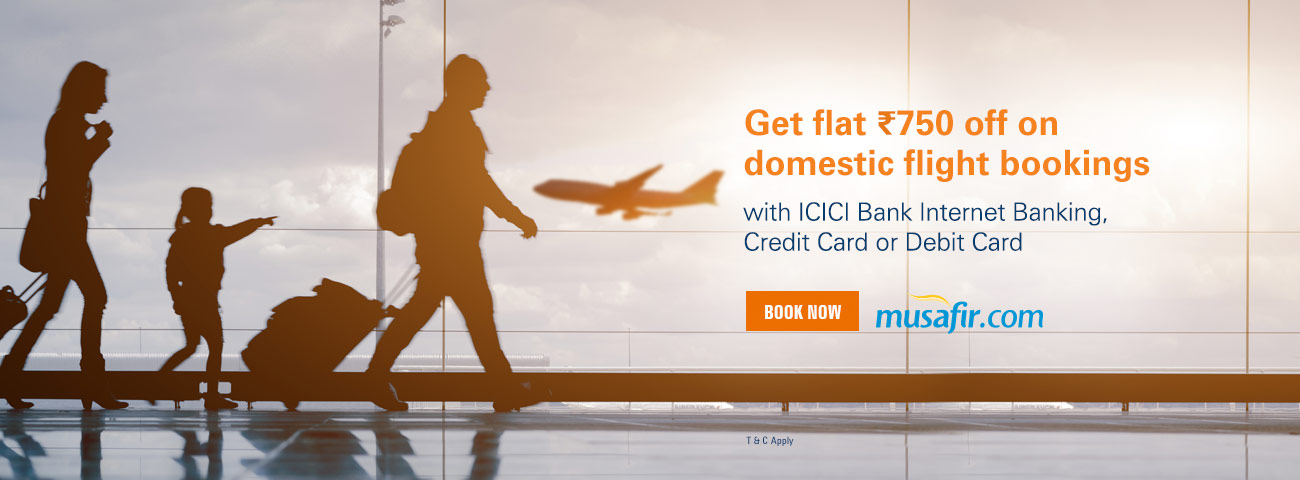 Musafir Domestic Flight Flash offer
