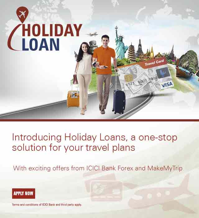 Holiday Loan Offer Icici Bank