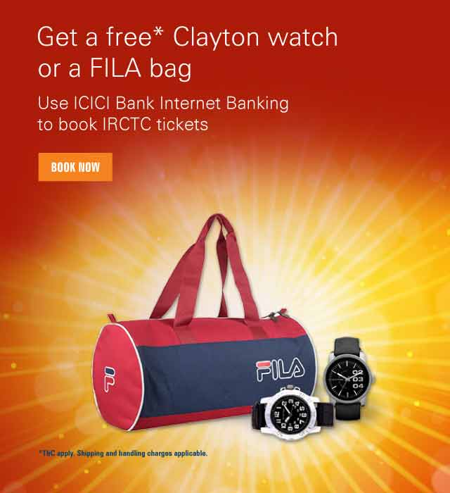 IRCTC Watch and bag offer