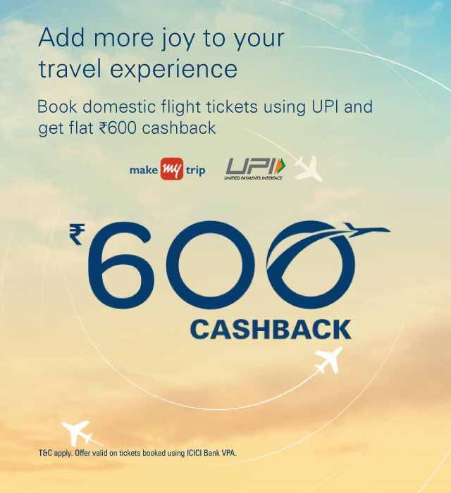 MakeMyTrip Credit Card Offers MakeMyTrip customers can use their credit cards to make flight, hotel, bus and holiday bookings and avail various cashback offers and discounts. Offers are available on ICICI Bank Credit Cards, HDFC Bank Credit Cards, SBI Credit Cards, Axis Bank Credit Cards, etc., for bookings done on truecup9v3.ga