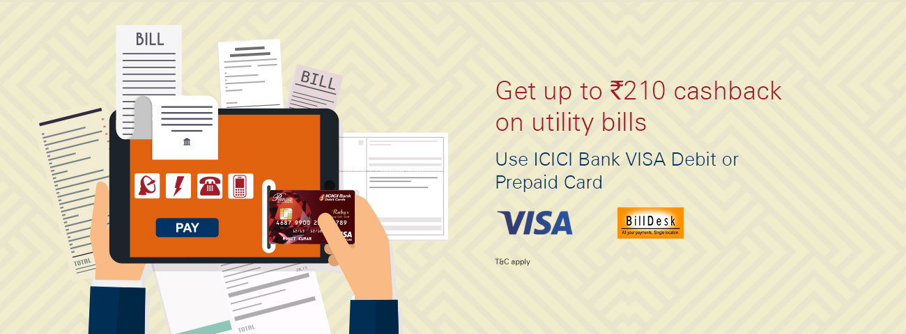 BillDesk Visa Cards Offer